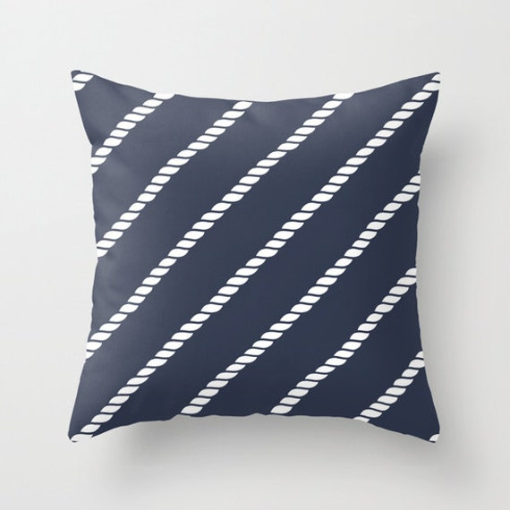 Nautical Decorative Pillow Covers : Nautical Rope Pillow Cover nautical rope decor sailing