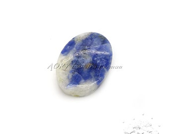 Natural Sodalite Cabochon, Size 22x15mm Natural Gemstone, Oval Shape