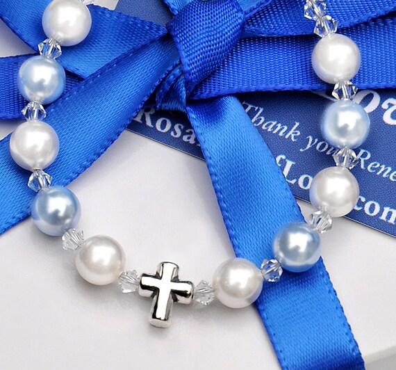 Baby Boy Bracelet Baptism Gift Sterling Silver by ...