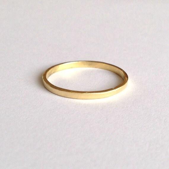 gold eco wedding ring solid 18 karat flat shape by firewhite