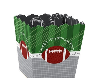 Football Custom Small Candy Boxes - Personalized Baby Shower and Birthday Party Favor Boxes - Set of 12