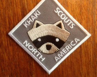 Moonrise Kingdom Iron on Khaki Scout patch