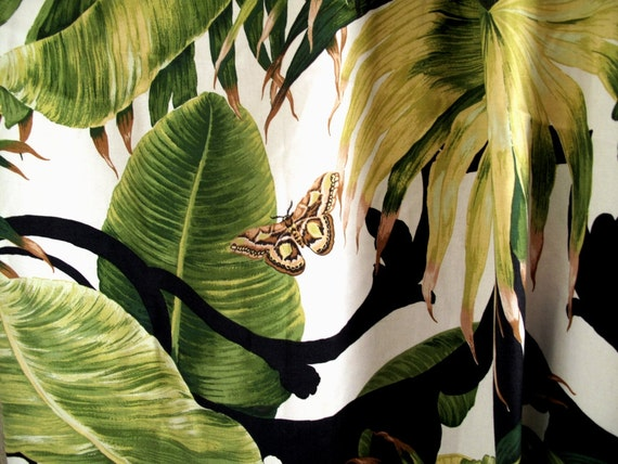 Vintage französischer vorhang / draperie / panel von loppislover