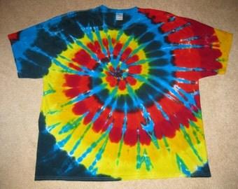 tie dye t shirt, rainbow shirt, Grateful Dead, 3XL