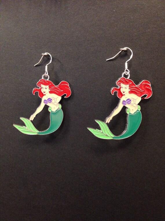 the mermaid ariel earrings with sterling by