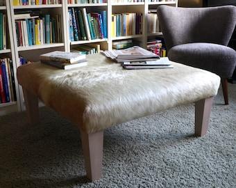 Cowhide Tablestool Footstool Ottoman Ottoman Cowhide