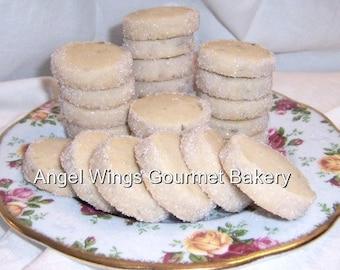 Lavender Shortbread Cookies 2 dozen  Bite Size Gourmet Cookies
