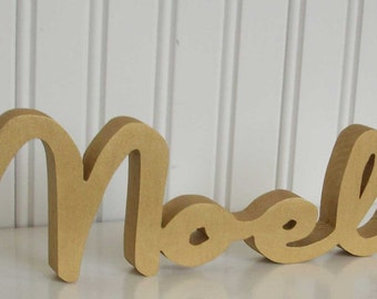 Gold Noel Letter Sign, Christmas Decoration, Mantle Decoration, Holiday Decoration, Wood Noel Sign