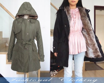 green black white coat winter thick coat warm coat women cotton clothing women coat long sleeve coat jacket outerwear dress