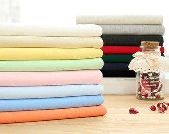 Cotton Knit Solid Colors Interlock Knit by Yard - 15 Colors Selection