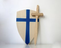 Wooden Traditional Sword And Shield