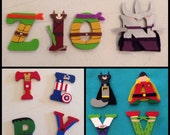 3 Inch Wood Character Letters: Ninja Turtles, Disney, The Avengers, Batman, Star Wars, South Park, or your favorite super hero!