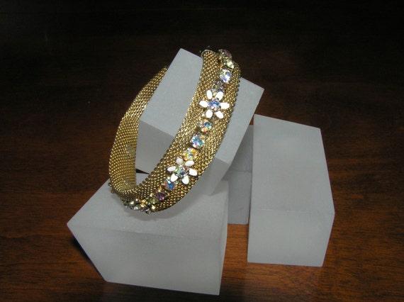 Weiss Mesh Bracelet, Vintage Weiss Mesh Bracelet, Weiss Gold Mesh ...
