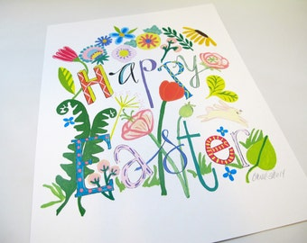 "8-1/2 X 11"" Happy Easter Print signed by artist"