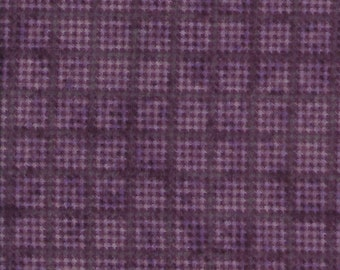 45'' Henry Glass & Co The Buggy Barn Flannel Houndstooth Monotone Purple by the Yard