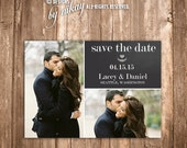 Modern Chalkboard Save the Date Card! PRINTABLE Save the Date can be personalized! DIY. Choose Color and Design for your wedding!