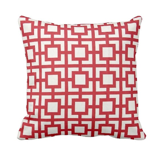 Throw Pillow Sizes Chart : 7 Sizes Available: Red Throw Pillow Cover by ReedFeatherStraw