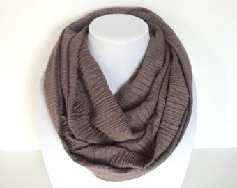 Neutral Scarf, Brown Infinity Scarf, Infinity Scarf, Mocha Scarf, Spring Scarf, Mother's Day Gift