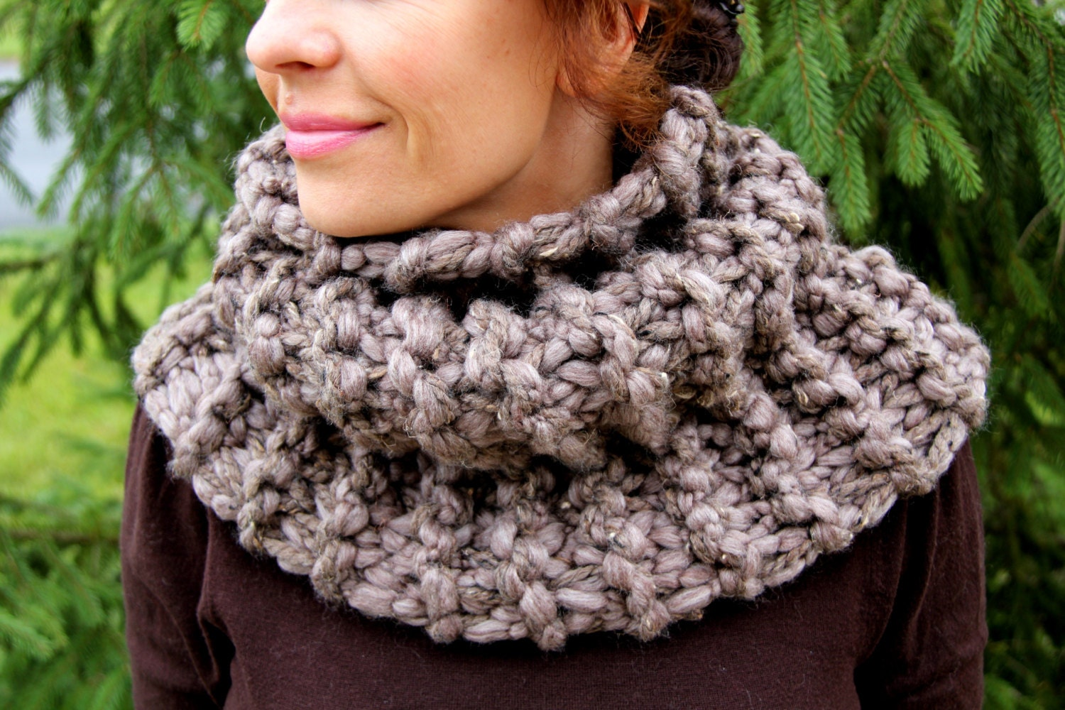 Knitting Pattern For Claire s Cowl : Outlander Cowl Hand Knit Outlander Inspired Claires Cowl