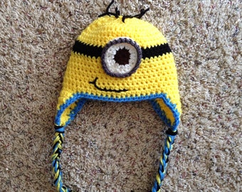 Minion beanie hat with earflaps