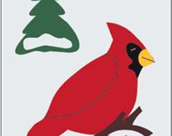 Winter Cardinal Handcrafted Applique Garden Flag
