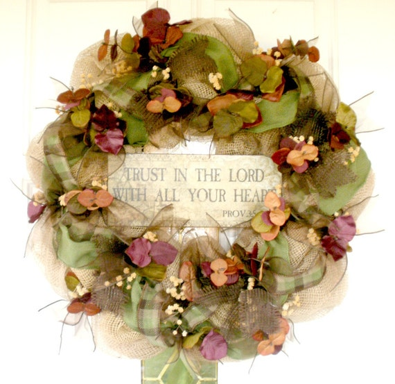 fall wreath mesh wreath indoor wreath outdoor wreath
