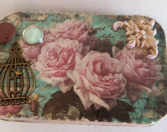 Rose Romance Altered Art Tin