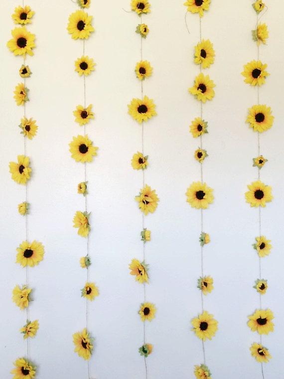 Summery Sunflower Garland College Room Decor By