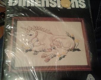 Baby Unicorn Dimensions Crewel Kit by Linda K Powell
