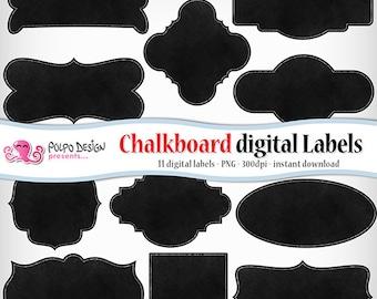 Chalkboard digital labels clip art. Commercial & personal Use. Instant Download. PNG transparent clipart chalkboards chalk frame label tags