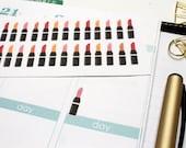 36 Lipstick Stickers! Perfect for your Erin Condren Life Planner, Filofax, Kikkik, Plum Paper, or scrapbooking! #SQ00432