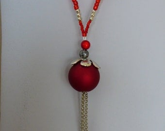 necklace red planet - Made in FRANCE