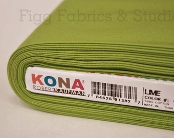 KONA Cotton in Lime (Color 1192)