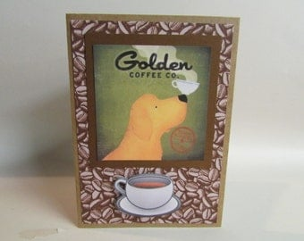 handmade Golden Coffee Co. Greeting Card