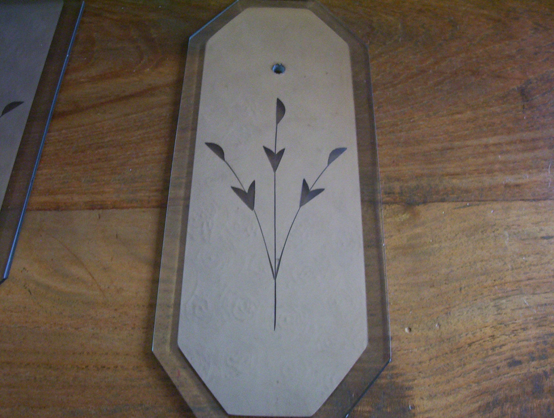 Vintage door mirrored glass finger plates by for Door finger plates