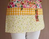 Utility Apron with pockets - gardening apron - vendor apron - half apron
