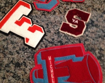 Vintage Athletic Letters/Patches
