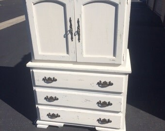 Distressed Shabby Chic Dresser/Armoire