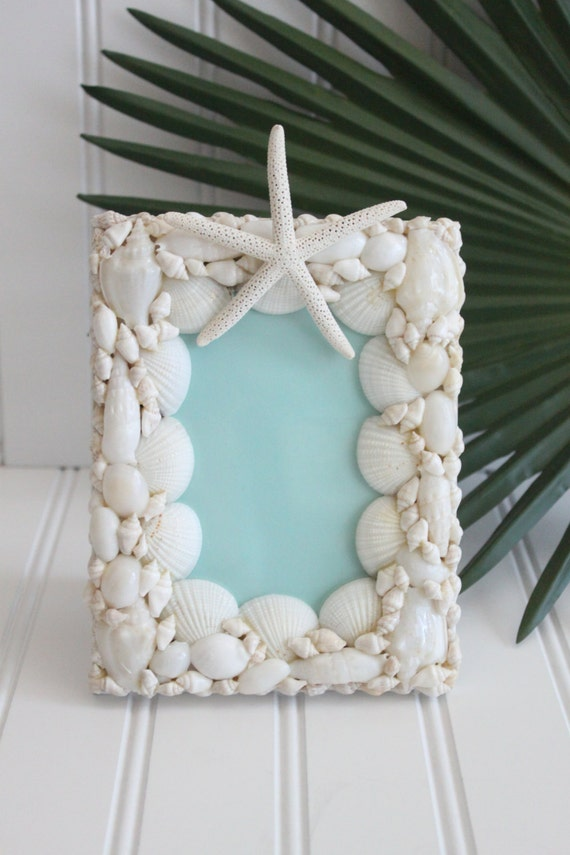 Small Seashell and Starfish Photo Frame