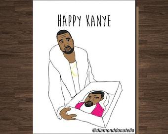 Kanye West, Funny Birthday Card, Birthday Card Funny, Birthday Card for Friend