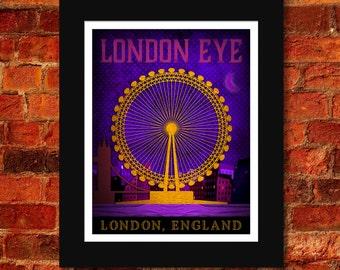 London Eye Art Print - 11x14
