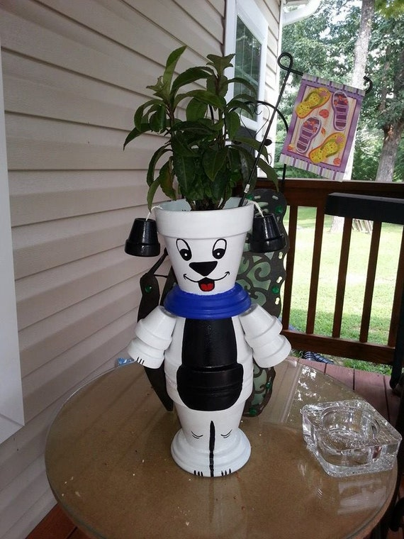 Items Similar To 10 Inch Flower Pot Dog Pot Person