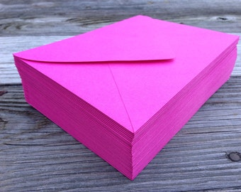 50 Fuchsia Hot Pink A7 5x7 Invitation or A1 (4Bar) RSVP Pointed Flap Envelopes - Paper Source Envelope