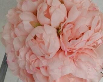 No. 3018  Pink Peony Bouquet Artificial Flower Bouquet, Artificial Flower, Wedding Bouquet,Bridal Bouquets Bridesmaid Bouquet.