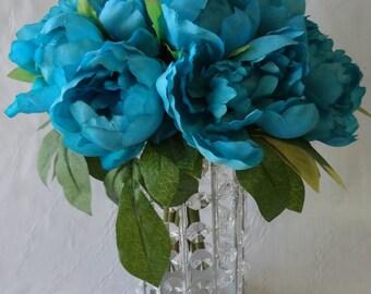 No. 3032 Turquoise  Peony Bouquet