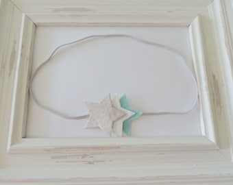 Little Star Headband - Felt and Metallic Silver, Baby Headband, Toddler Headband, Girls Headband