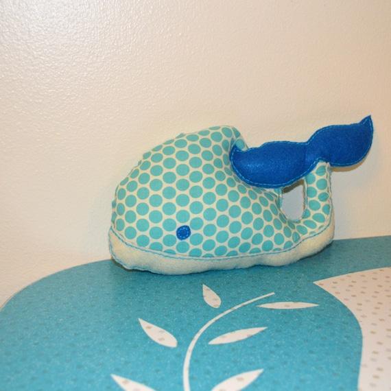 Ocean Animal Pillows : Items similar to Blue Whale, Turquoise Ocean Polka Dot, Cute Small Stuffed Animal Pillow ...