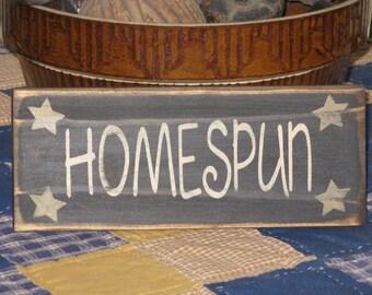HOMESPUN sign