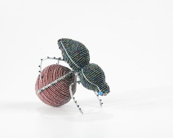 Allsorts Collection Wire and Bead Dung Beetle