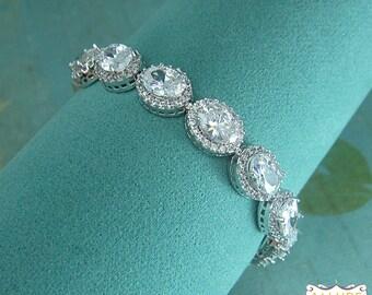 Bridal bracelet, wedding bracelet, cz bracelet, cubic zirconia bracelet, bridal jewelry, wedding accessories, pear cz bracelet 205810174